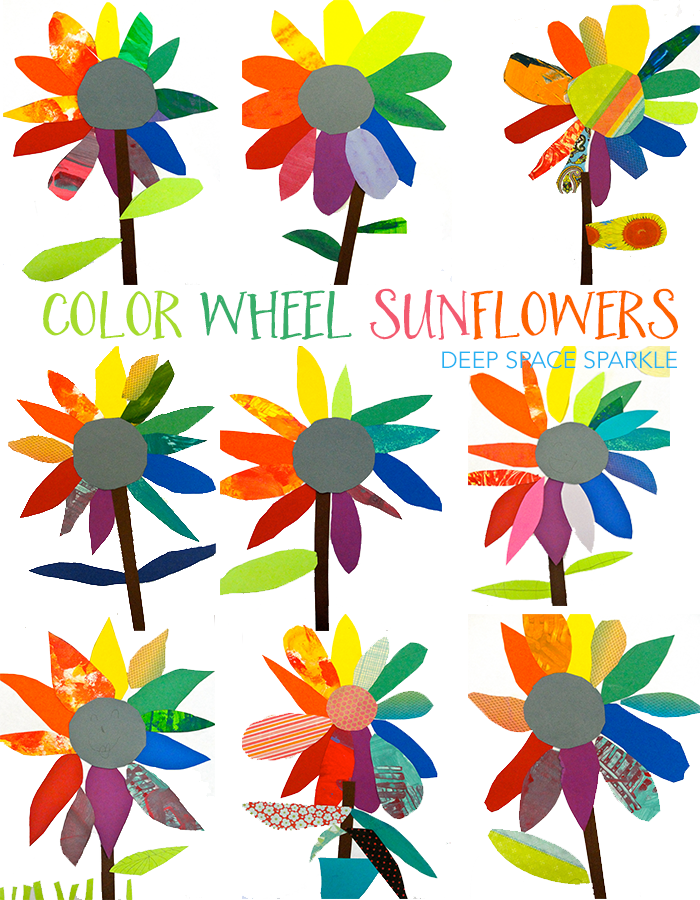 Color Wheel Art Project Paper Sunflowers Kinder