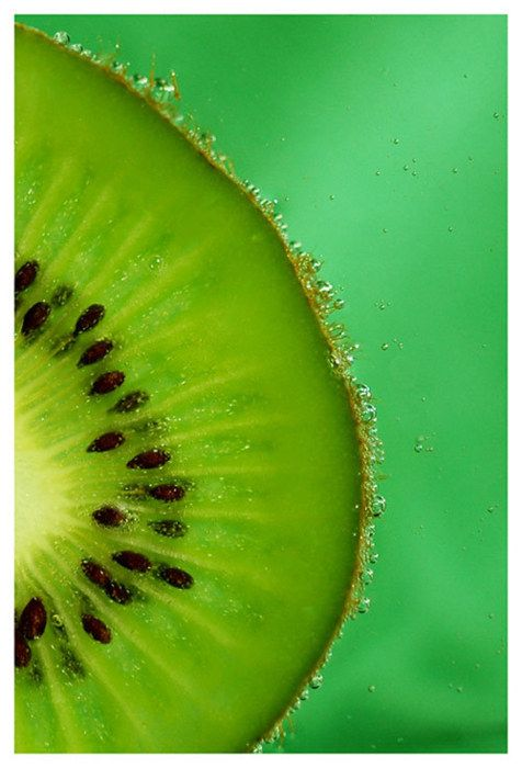Green Rich Color Kiwi In Water