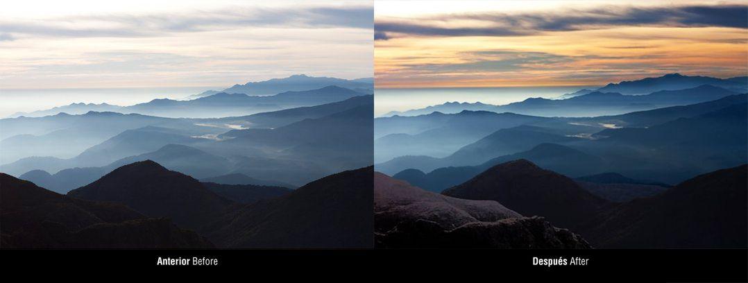Vista desde El Chirripó. Retoque digital para material Rain Forest Adventures