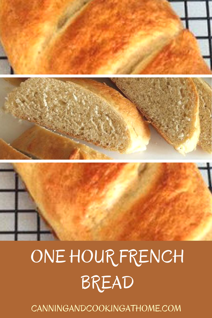 One hour french bread by canning and cooking at home food one hour french bread by canning and cooking at home forumfinder Gallery