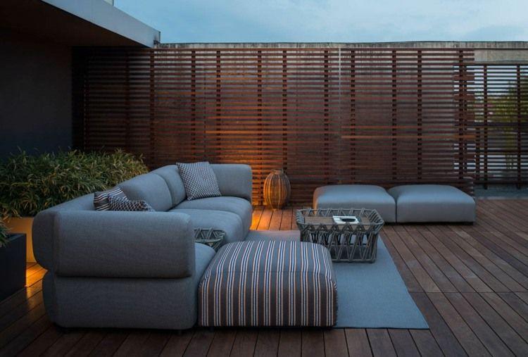 Salon de jardin, bains de soleil et poufs - 20 meubles lounge ...