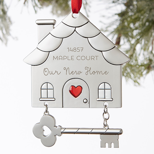 First Home Christmas Ornament 2020 This Engraved Silver Home Ornament is stunning! You can