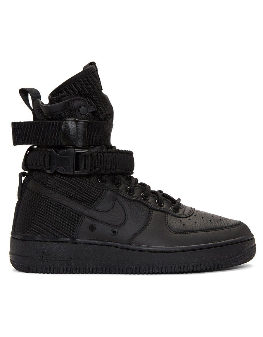 895e2324bfd7 NIKE Black SF Air Force 1 High-Top Sneakers in 2019
