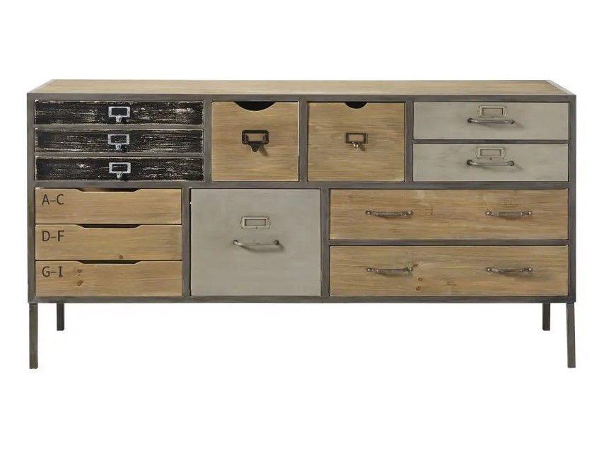 Cabinet De Rangement Indus Jonas 13 Tiroirs En Sapin Et Metal Cabinet Maisons Du Monde Ventes Pas Cher Com Cabinet De Rangement Maison Du Monde Console Maison Du Monde