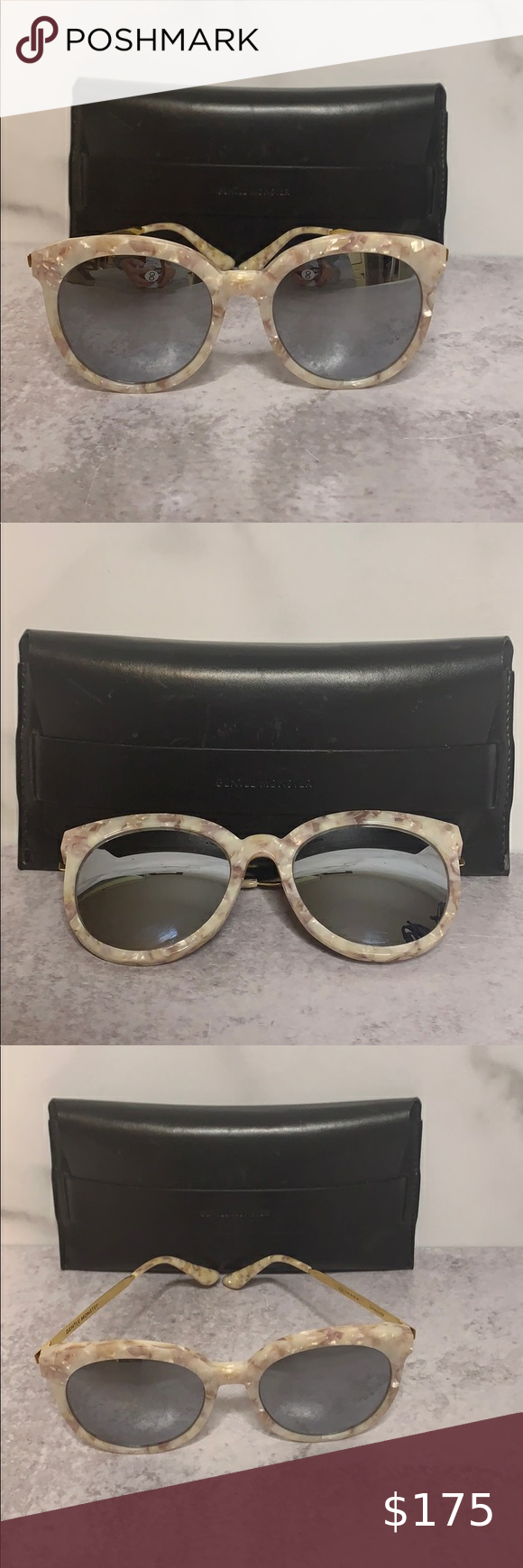 """Gentle Monster Loveless Oversize Sunglasses Y 0227 Gentle Monster Loveless Pink Tan Marble Gold Arm Mirrored Sunglasses Pre owned (only worn a few times). Good condition. No flaws. 1 7/8H x 1 7/8""""H lens Gentle Monster Accessories Sunglasses"""
