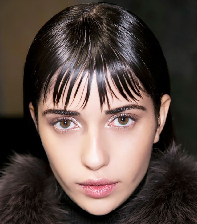 Hairstyle Wet Hair Mornings in 2020 | How to style bangs ...