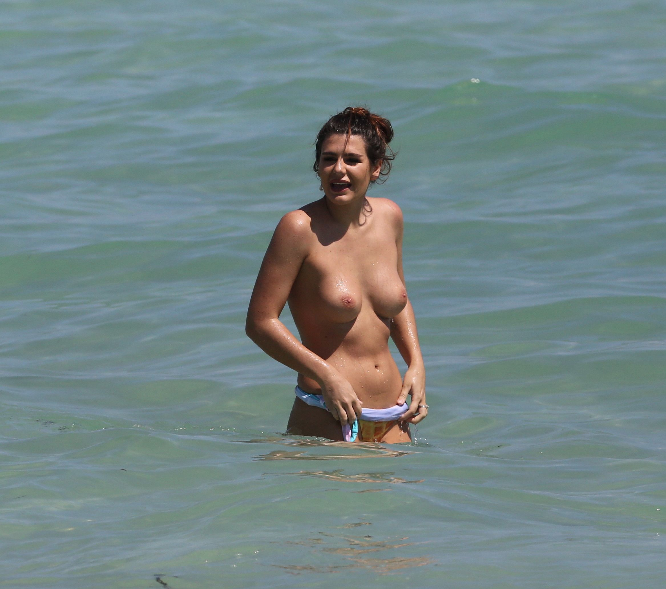 Topless Celebrities On Beach