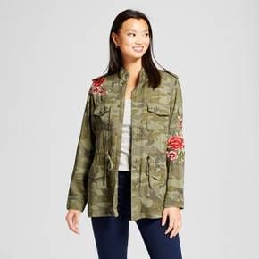 70cb72d171d6c Women's Embroidered Camo Anorak Jacket - Knox Rose™ Camo Print ...