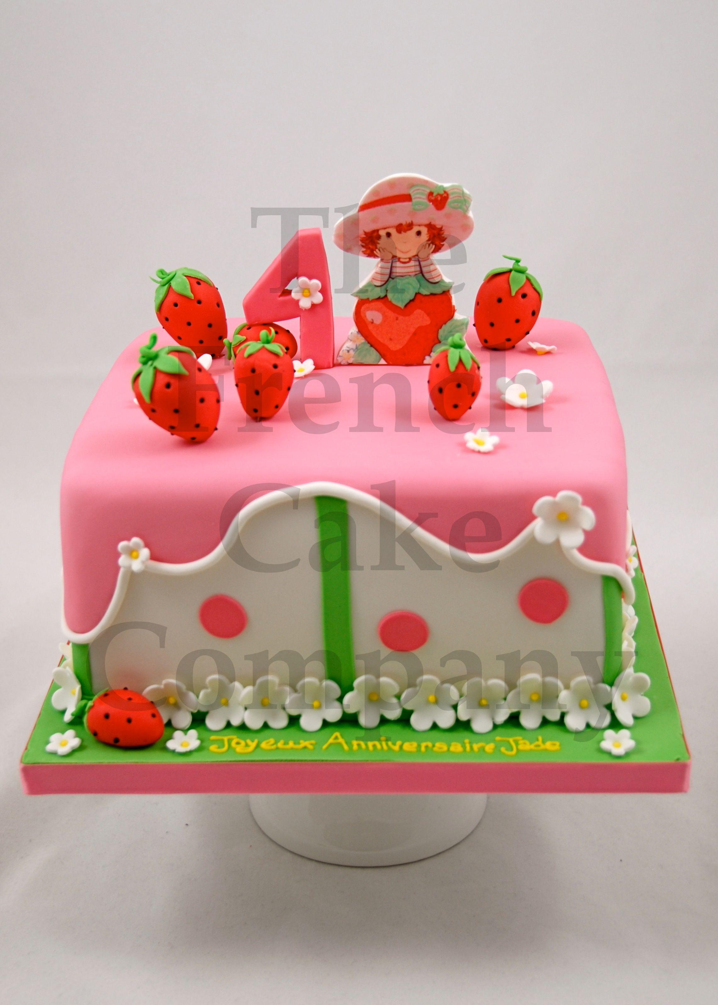 Cakes for girls gateau d 39 anniversaire pour enfants filles charlotte aux fraises - Gateau anniversaire enfants ...