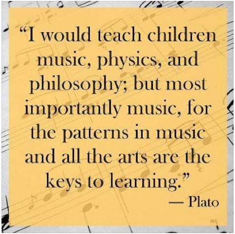 I Would Teach Children Music Plato Quote Plato Quotes Music Quotes Music For Kids