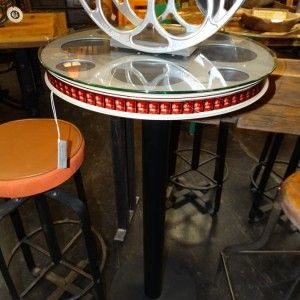Red Illuminating Movie Reel Bar Table With Glass Top And Remote Https://rare