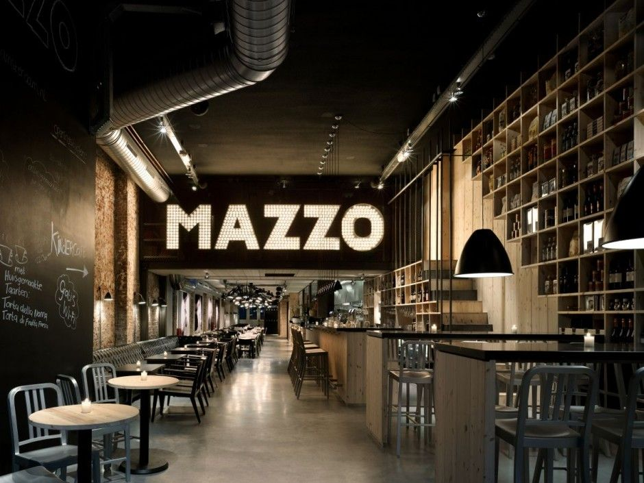 the barrestaurant mazzo in amsterdam the netherlands has recently received a face lift by the firm of concrete architectural associates