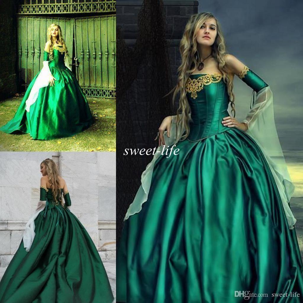 Wedding Dresses Gowns Hunter Green Victorian Gothic Wedding Dresses