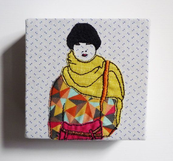 Hipster Embroidery 'Lexie' 4x4inch Stitch by CheeseBeforeBedtime, $55.00