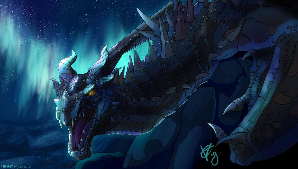 Tes Skyrim Dragon By Azuralynx Skyrim Dragon Tes Skyrim Skyrim