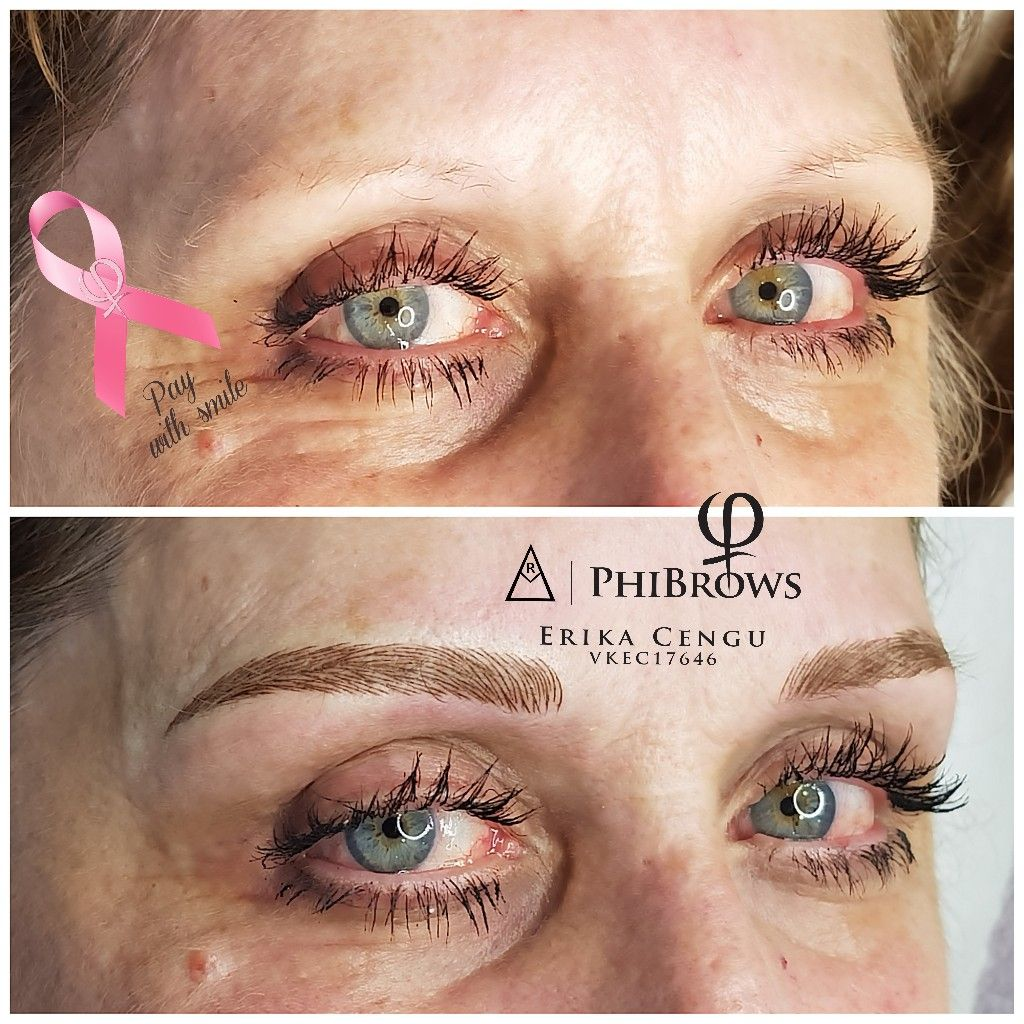Pay with a smile client microblading derby Phibrows royal
