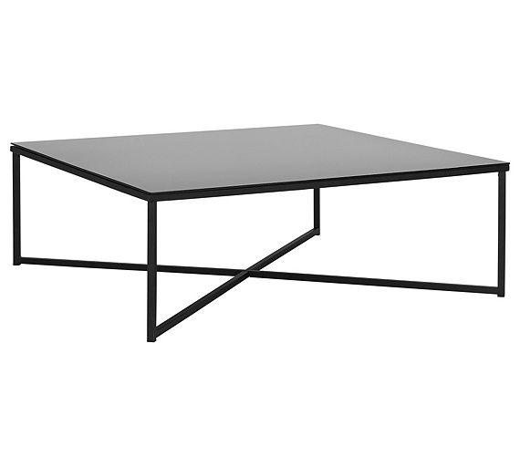 Buy Home Low Level Chrome Coffee Table Black At Argosco