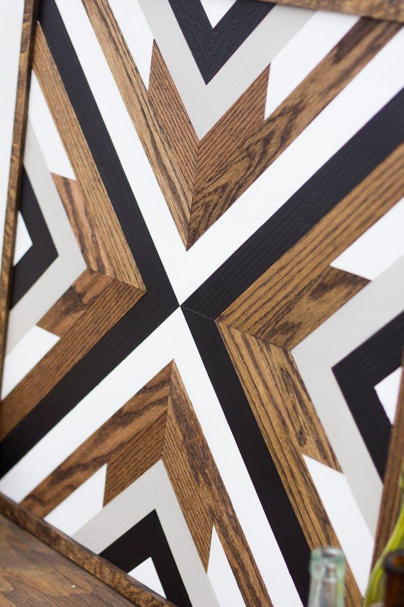 Geometric Wood Wall Art Wood Wall Art Rustic Wall Art Etsy In 2020 Wood Wall Art Diy Aztec Wall Art Wood Wall Art