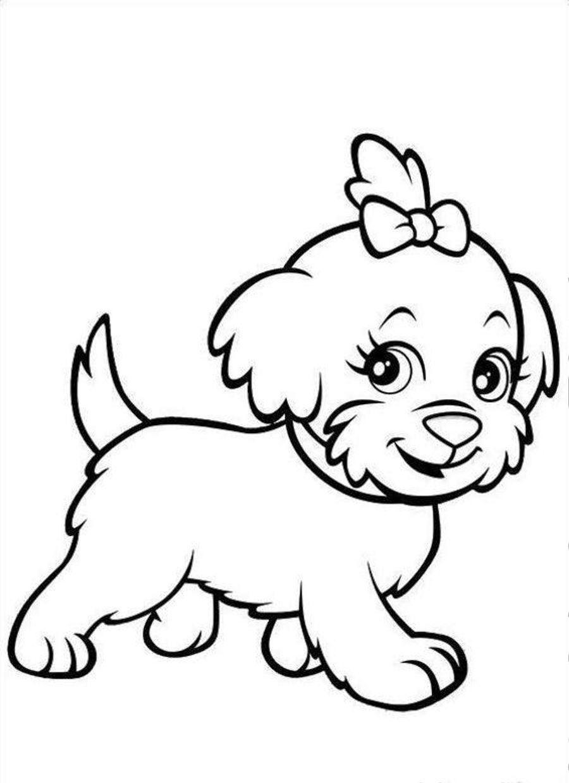 - Lovely Puppy Coloring Book (Dengan Gambar) Gambar Simpel, Adult
