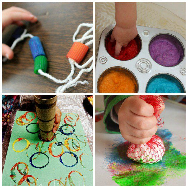 Looking for ideas your toddlers can do at home? Check out this ...