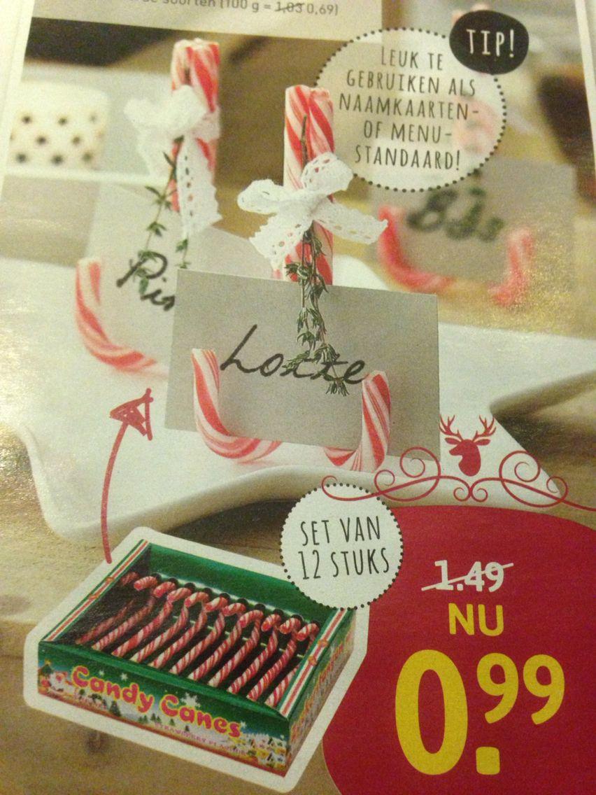 Naamkaartje Van Kerstboomstokjes Uit Xenos Folder Kerst