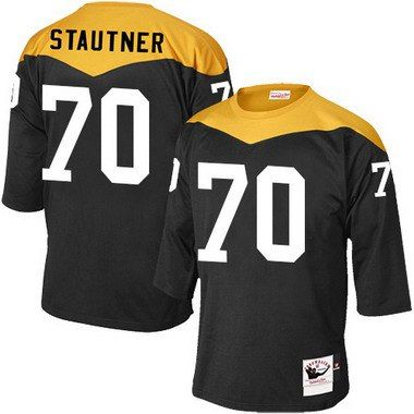 Men's Pittsburgh Steelers #70 Ernie Stautner Black Retired Player 1967 Home Throwback NFL Jersey
