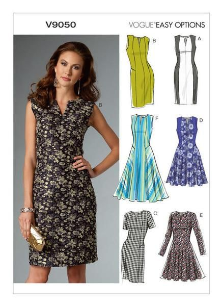 Easy Vogue Sewing Pattern - V9050 Misses  Misses  Petite Dress … WeaverDee. 94c493d357ac