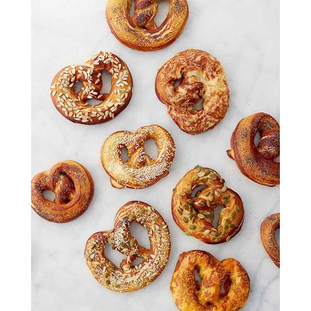 """""""Watch Martha make these homemade chewy pretzels from #SigmundPretzelshop owner Lina Kulchinsky tomorrow on #MarthaBakes."""" Photo taken by @marthastewart on Instagram, pinned via the InstaPin iOS App! http://www.instapinapp.com (10/16/2015)"""