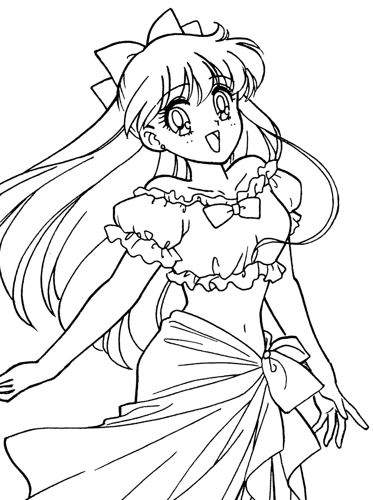 Aino minako coloring page sailormoon sailor moon for Sailor venus coloring pages