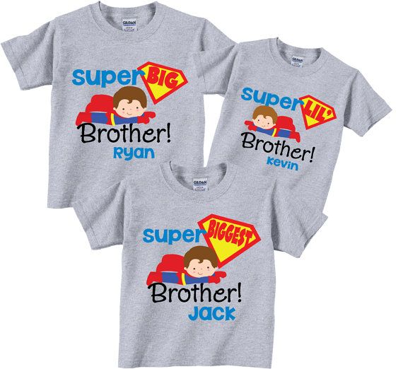 Big Brother Little Brother Biggest Brother Sibling by TheCuteTee, $37.95
