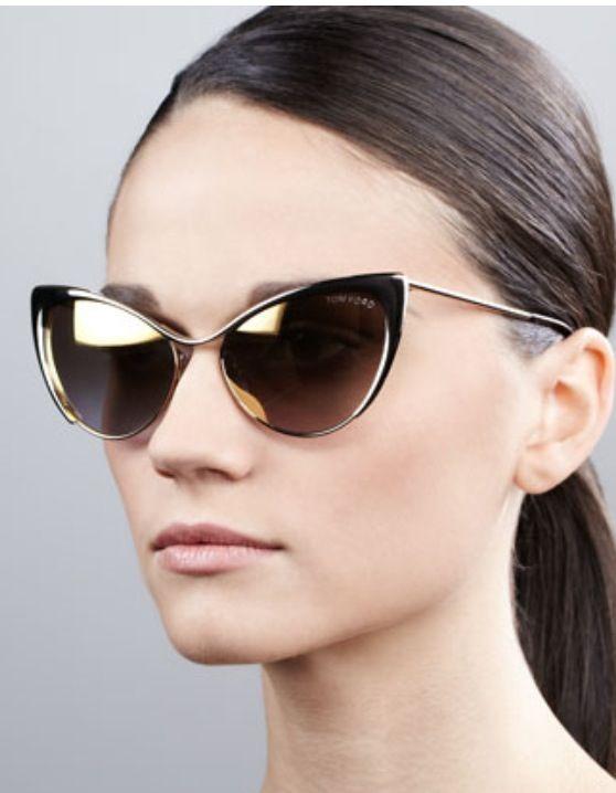 Nastasya, Tom Ford metal cat-eye sunglasses! Don't you just love Tom Ford? x