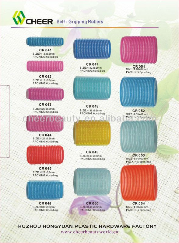 Self Gripping Hair Rollers Cr049 Plastic Hair Roller Clips