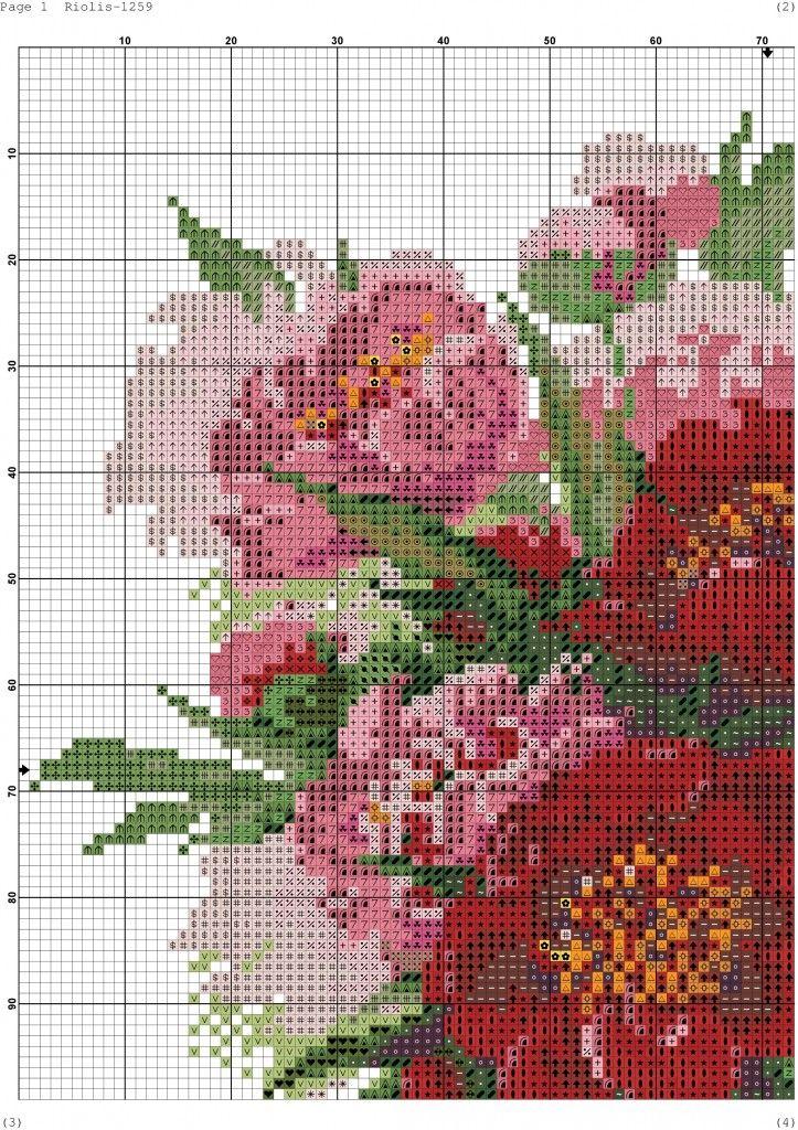 3396 1259 Xsd 001 Floral Cross Stitch Cross Stitch Flowers