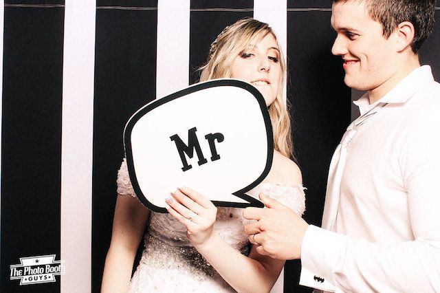 Black stripe photo booth backdrop | The Photo Booth Guys