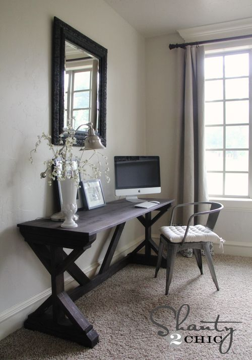 Diy Desk For Bedroom Farmhouse Style Home Office Furniture