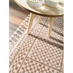 Photo of benuta short pile carpet Bahar beige / brown 90×150 cm – Modern carpet for living room benuta
