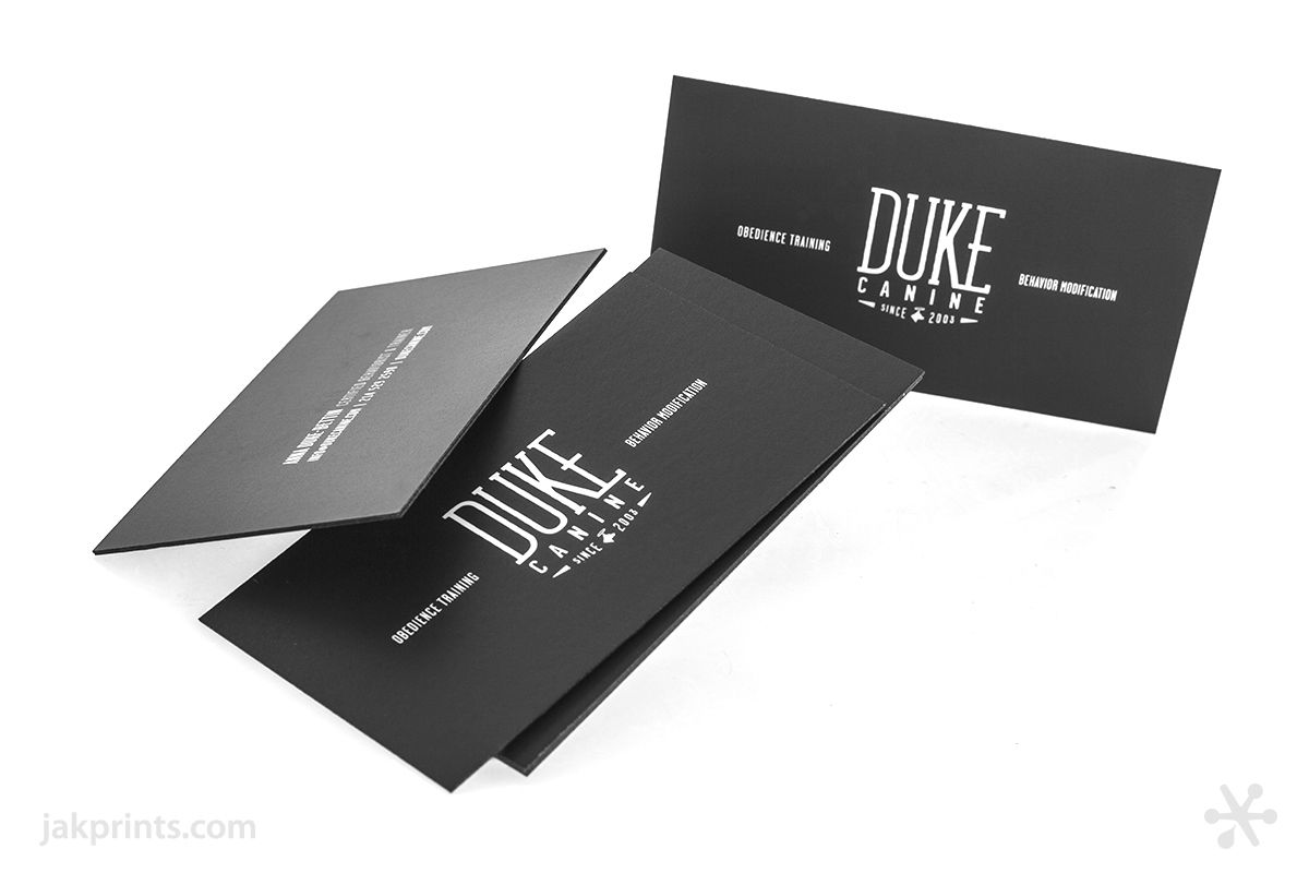 Ultra luxe Painted Edge Business Cards for Duke Canine. #jakprints ...