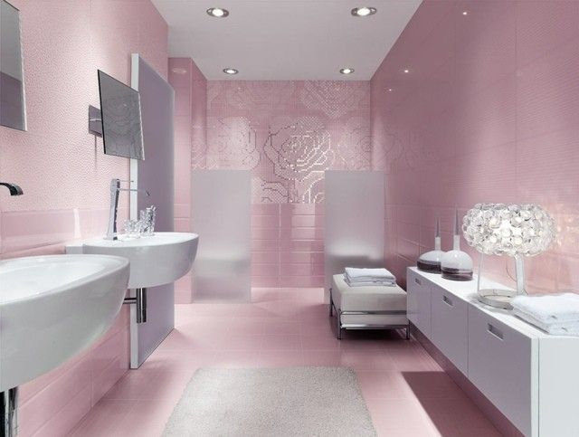 carrelage de salle de bains original ? 90 photos inspirantes ... - Carrelage Salle De Bain Rose