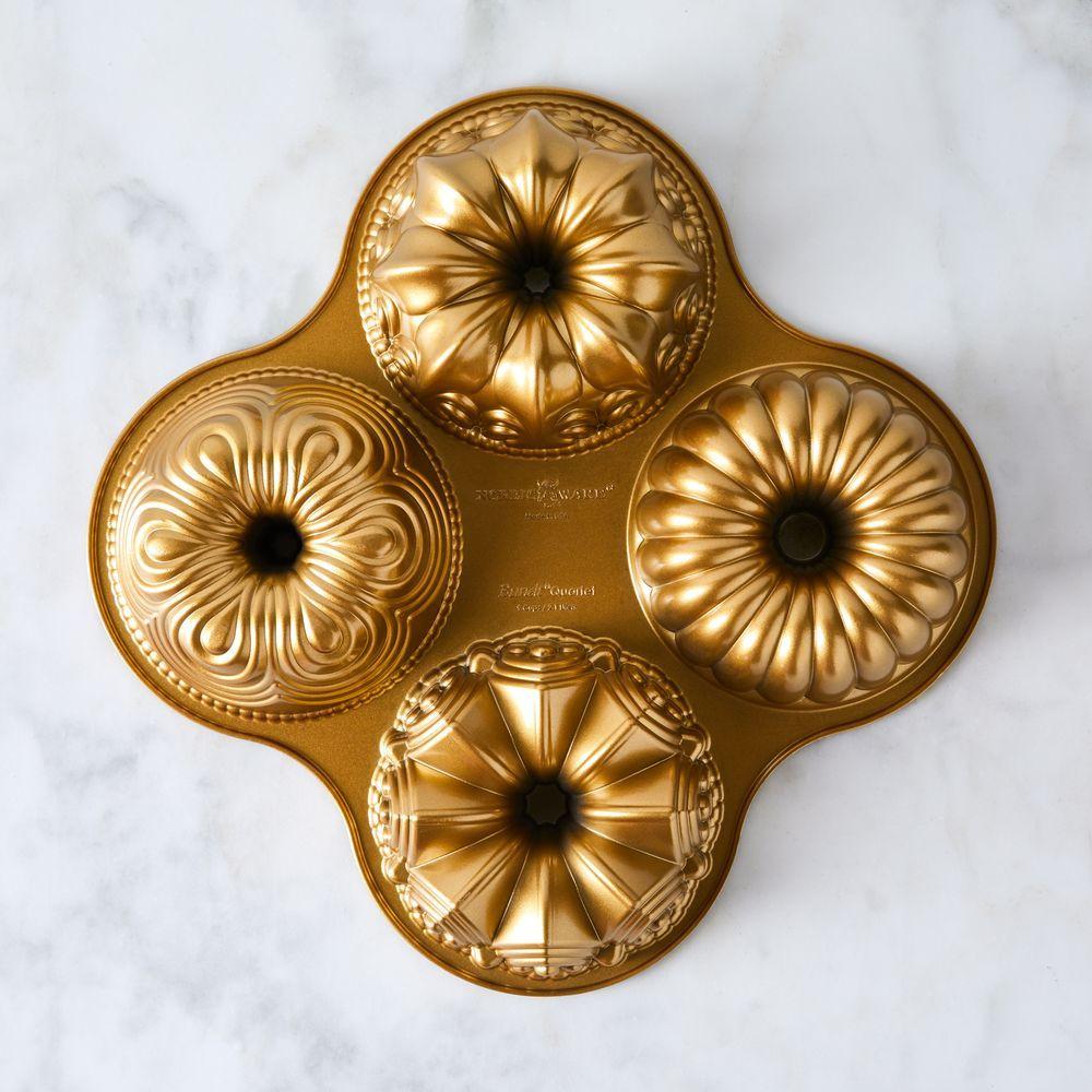 Premier Gold Collection Nordic Ware Bundt Quartet Pan