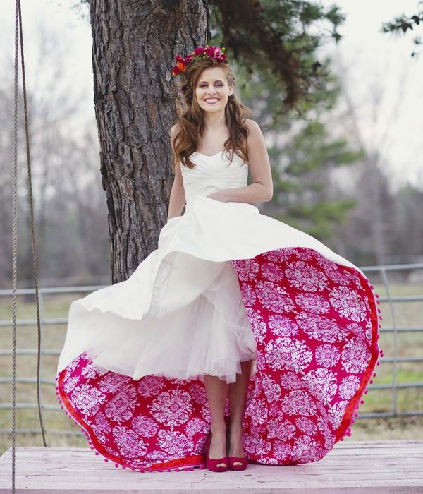 Love The Idea Of Lining The Dress With A Fun Lining Of Any