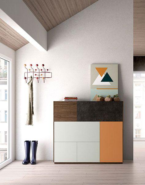 Aparador de estilo n rdico o escandinavo acabados nogal - Muebles capsir ...