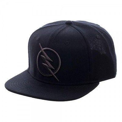 DC Comics Zoom Flash Logo Snapback Black on Black Baseball Cap Hat TV Show ce21c123fbcf