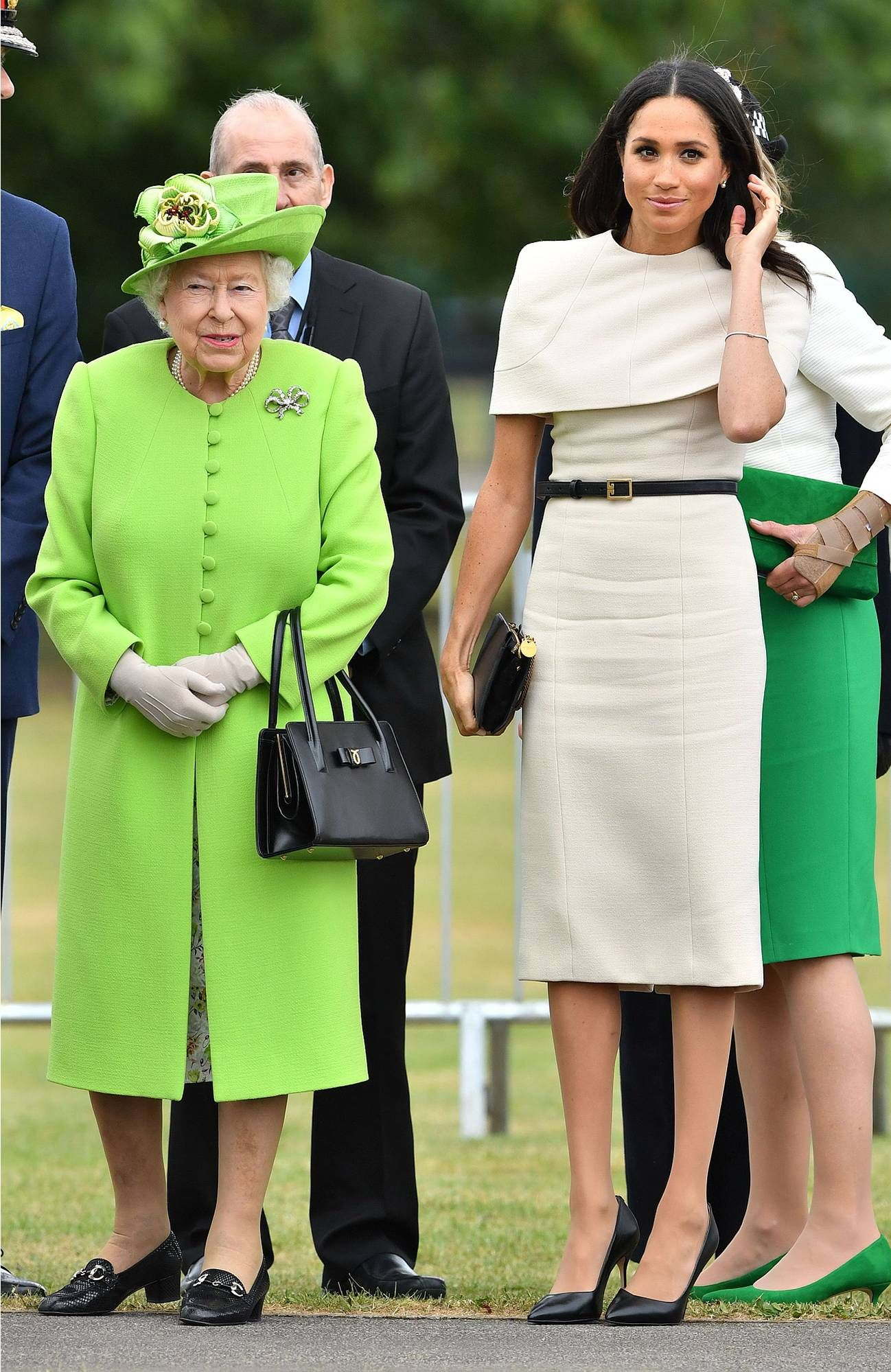 e39f14e20ab The Duchess and the Queen! Meghan Markle and Queen Elizabeth Step ...