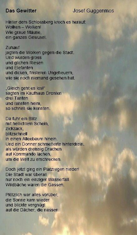 Das Gewitter, Josef Guggenmos | Grundschule | Pinterest | Das ...