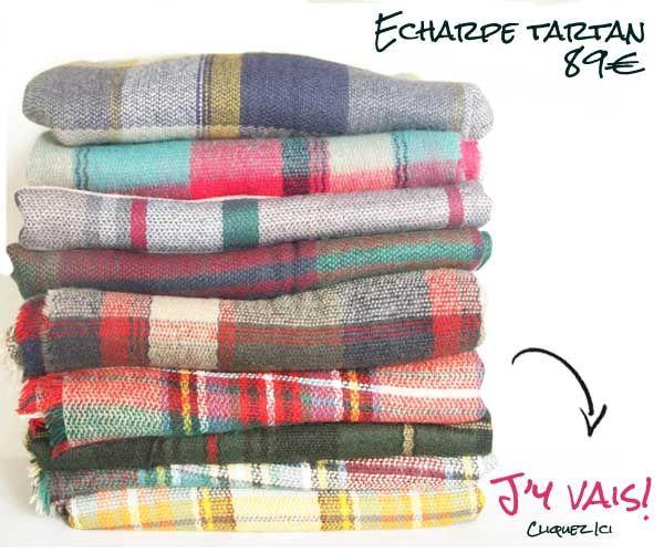 Grosse écharpe en laine oversize, tartan à carreaux écossais d écosse. Maxi  écharpe plaid tartan pour homme et femme. e8407e50f7a
