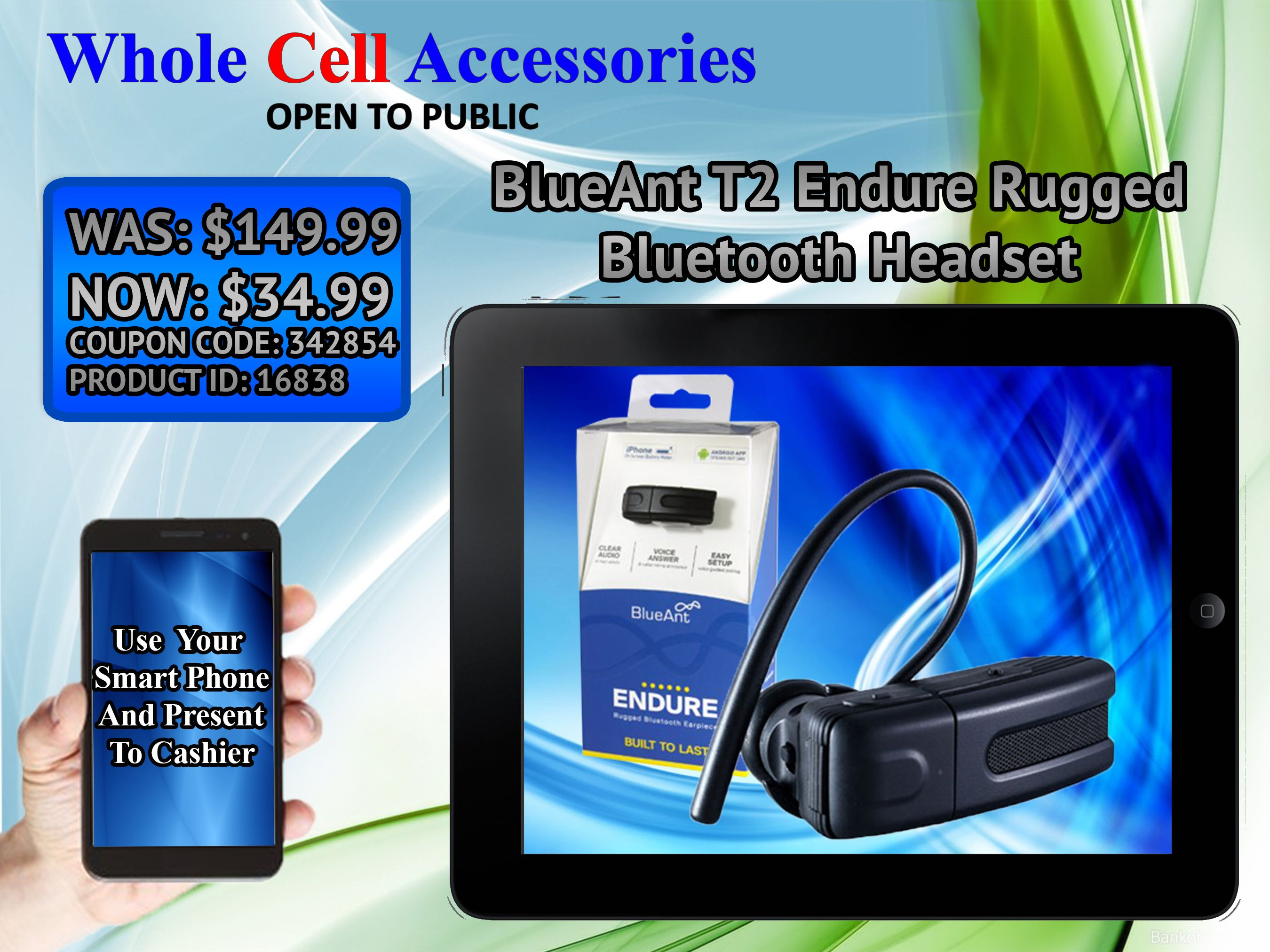 The Blueant T2 Endure Rugged Bluetooth Headset Is Now On At Whole Cell Accessories