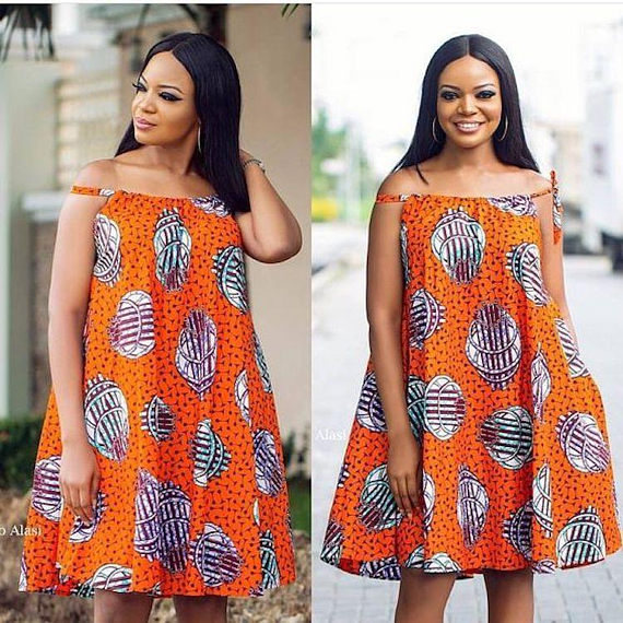 b6f75158798 Elegant African Print Maxi Dress with Off shoulder sleeves. Also available  in other prints