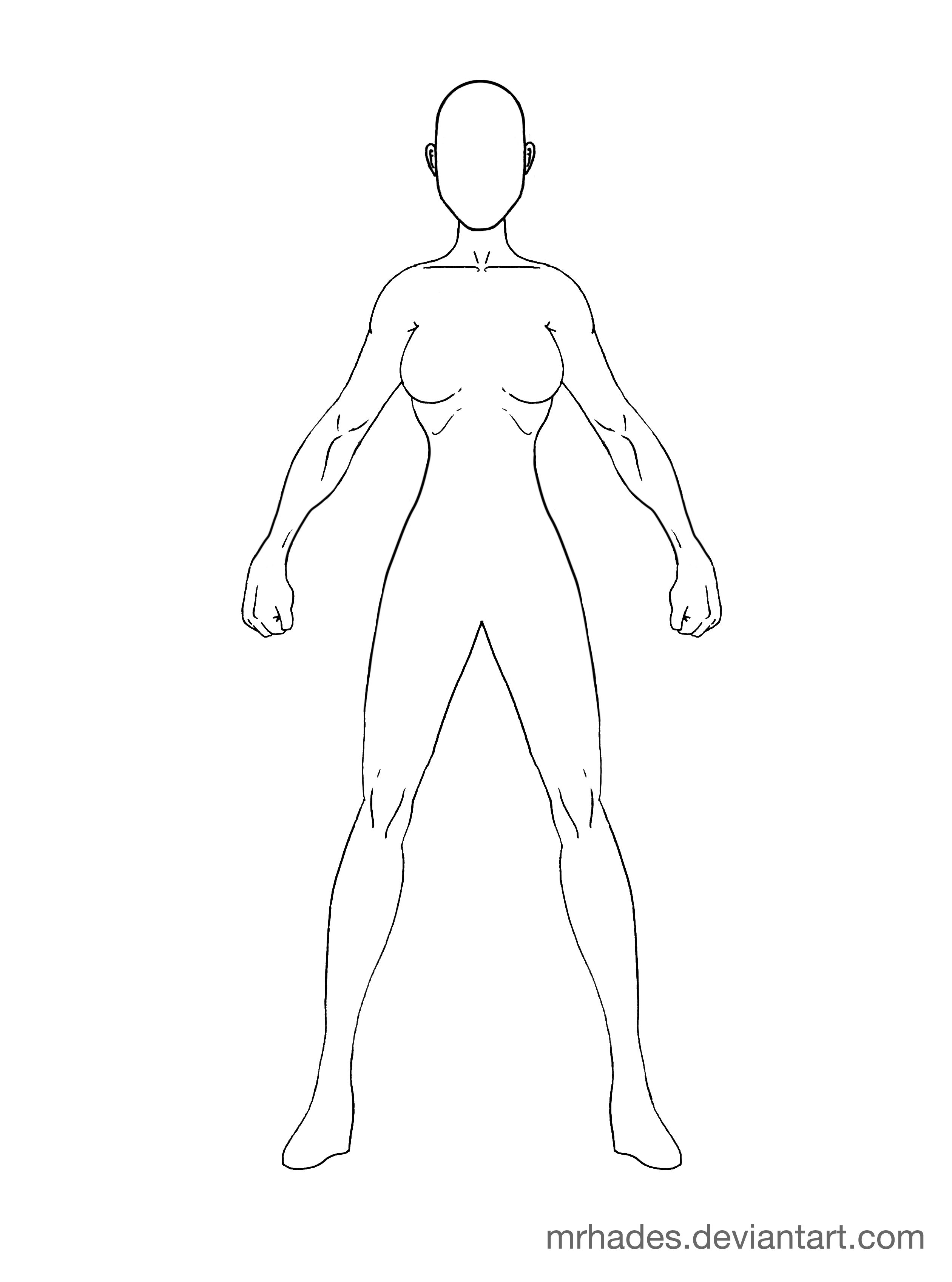 Woman Template Body Drawing Human Body Drawing Body Outline