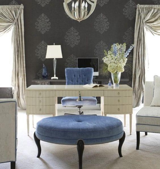 21 Feminine Home Office Designs Decorating Ideas: Home Office Decor, Feminine Home Offices, Home