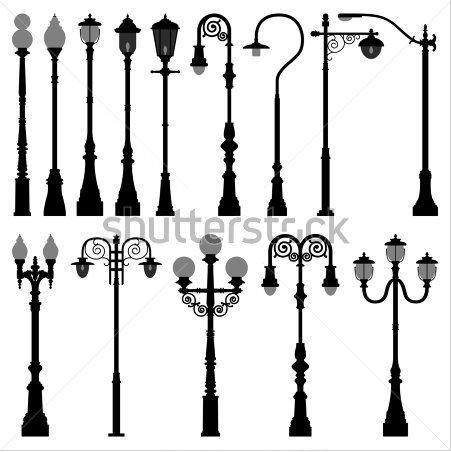 Nyc Lamp Dibujos De Faroles Postes De Luz Arte De Pared De Vinilo